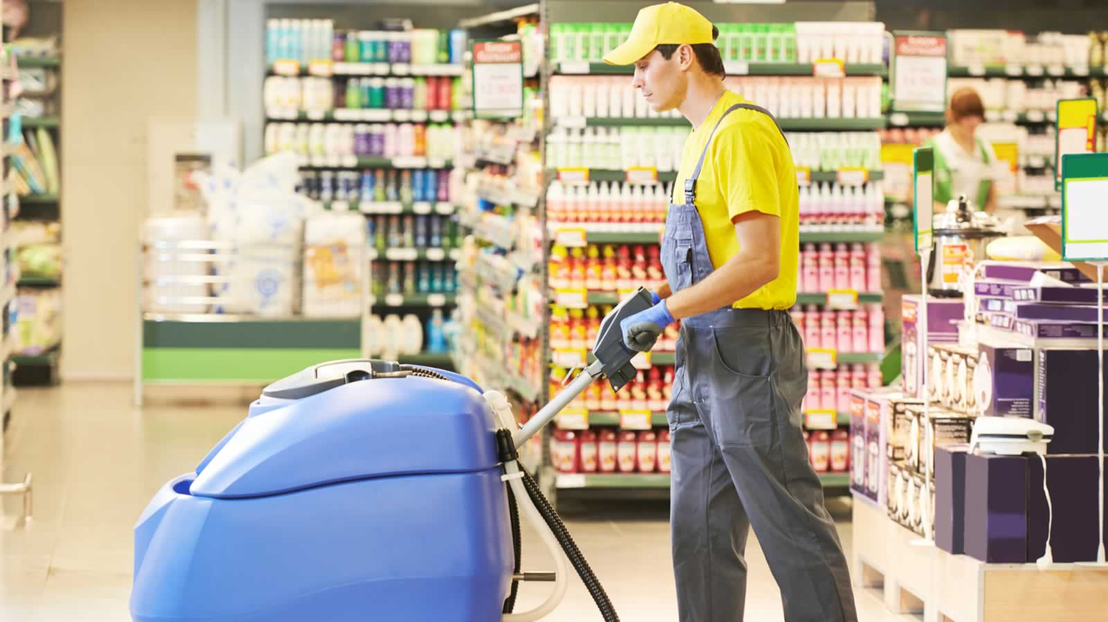Personal para limpieza en supermercados y centros comerciales